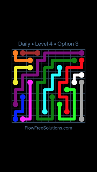 Solution and Answer to the Puzzle for Flow Date Sunday, April 15, 2018 Level 4