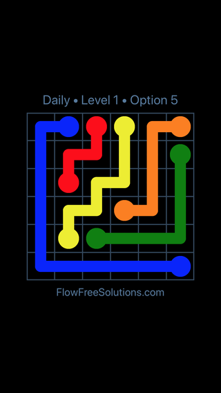 Solution and Answer to the Puzzle for Flow Date Monday, April 16, 2018 Level 1