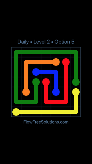 Solution and Answer to the Puzzle for Flow Date Monday, July 9, 2018 Level 2