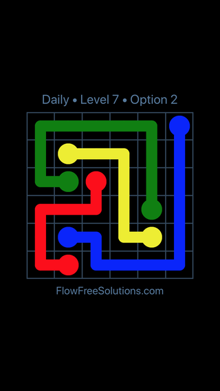 Solution and Answer to the Puzzle for Flow Date Monday, July 9, 2018 Level 7
