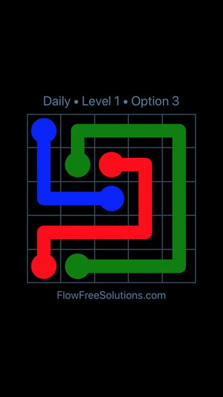 Solution and Answer to the Puzzle for Flow Date Tuesday, April 17, 2018 Level 1