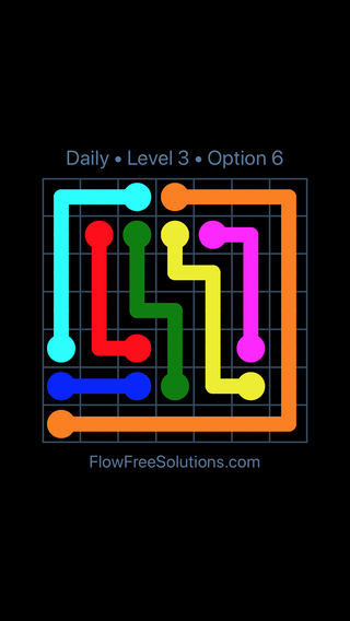 Solution and Answer to the Puzzle for Flow Date Tuesday, April 17, 2018 Level 3