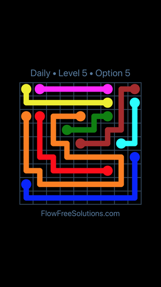 Solution and Answer to the Puzzle for Flow Date Tuesday, April 17, 2018 Level 5