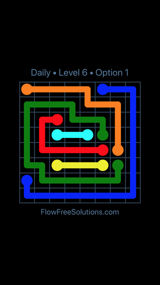 Solution and Answer to the Puzzle for Flow Date Tuesday, April 17, 2018 Level 6