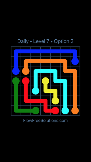 Solution and Answer to the Puzzle for Flow Date Tuesday, July 10, 2018 Level 7