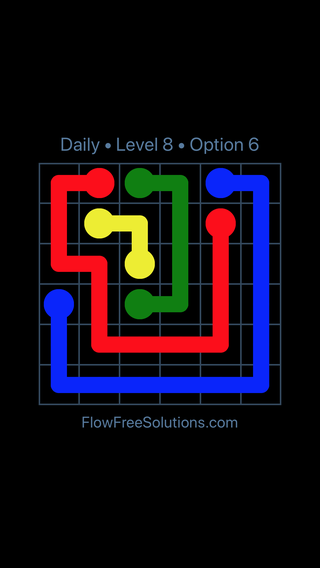Solution and Answer to the Puzzle for Flow Date Tuesday, July 10, 2018 Level 8