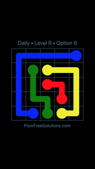 Solution and Answer to the Puzzle for Flow Date Tuesday, July 10, 2018 Level 9