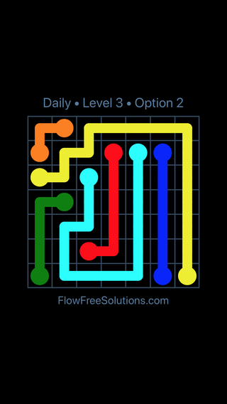 Solution and Answer to the Puzzle for Flow Date Wednesday, July 11, 2018 Level 3