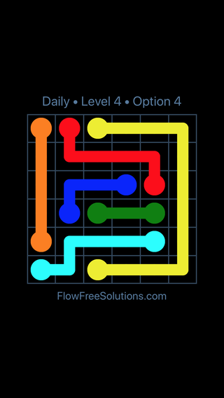 Solution and Answer to the Puzzle for Flow Date Wednesday, July 11, 2018 Level 4