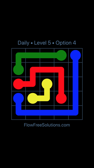Solution and Answer to the Puzzle for Flow Date Wednesday, July 11, 2018 Level 5