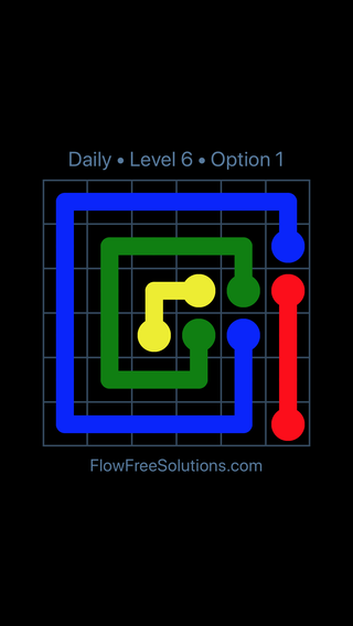 Solution and Answer to the Puzzle for Flow Date Wednesday, July 11, 2018 Level 6
