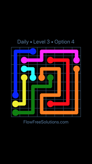 Solution and Answer to the Puzzle for Flow Date Thursday, July 12, 2018 Level 3