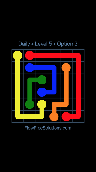 Solution and Answer to the Puzzle for Flow Date Thursday, July 12, 2018 Level 5