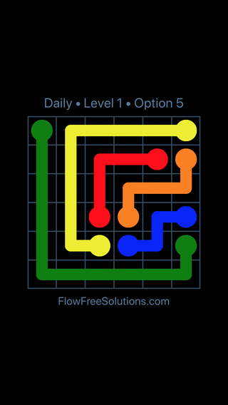 Solution and Answer to the Puzzle for Flow Date Friday, July 13, 2018 Level 1