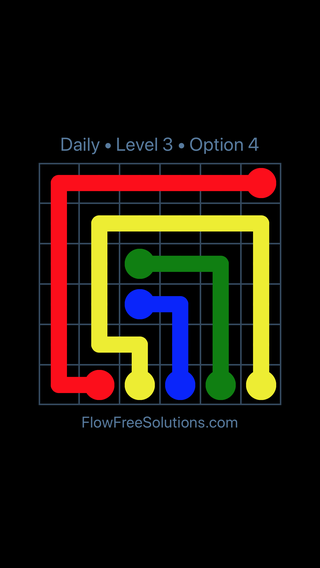 Solution and Answer to the Puzzle for Flow Date Friday, July 13, 2018 Level 3