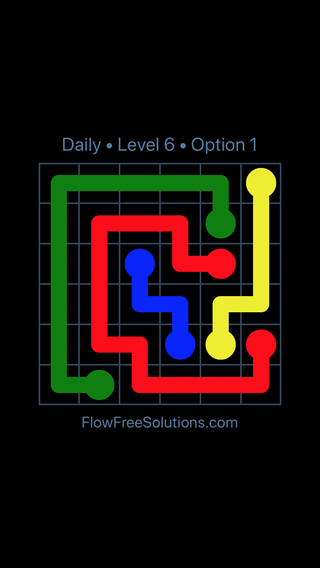 Solution and Answer to the Puzzle for Flow Date Friday, July 13, 2018 Level 6