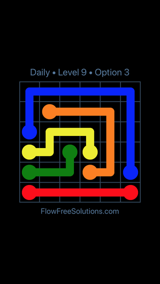 Solution and Answer to the Puzzle for Flow Date Friday, September 6, 2019 Level 9