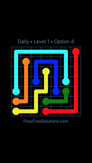 Solution and Answer to the Puzzle for Flow Date Tuesday, January 9, 2018 Level 1