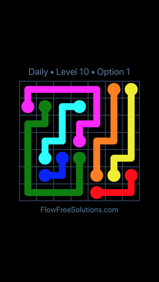 Solution and Answer to the Puzzle for Flow Date Tuesday, January 9, 2018 Level 10