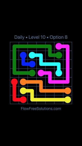 Solution and Answer to the Puzzle for Flow Date Tuesday, October 13, 2020 Level 10
