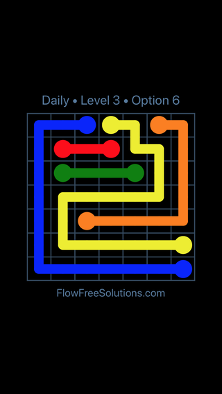 Solution and Answer to the Puzzle for Flow Date Tuesday, January 9, 2018 Level 3