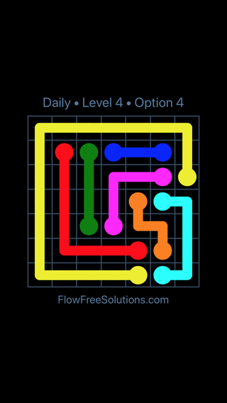 Solution and Answer to the Puzzle for Flow Date Tuesday, January 9, 2018 Level 4