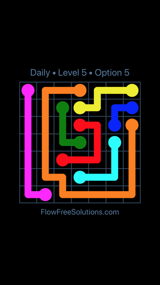 Solution and Answer to the Puzzle for Flow Date Tuesday, October 13, 2020 Level 5