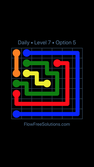 Solution and Answer to the Puzzle for Flow Date Tuesday, January 9, 2018 Level 7