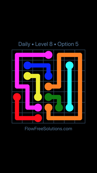 Solution and Answer to the Puzzle for Flow Date Tuesday, January 9, 2018 Level 8