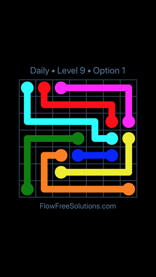 Solution and Answer to the Puzzle for Flow Date Tuesday, October 13, 2020 Level 9