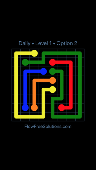 Solution and Answer to the Puzzle for Flow Date Saturday, October 6, 2018 Level 1