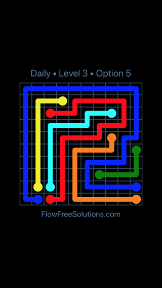 Solution and Answer to the Puzzle for Flow Date Saturday, October 6, 2018 Level 3