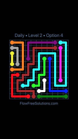 Solution and Answer to the Puzzle for Flow Date Sunday, September 8, 2019 Level 2