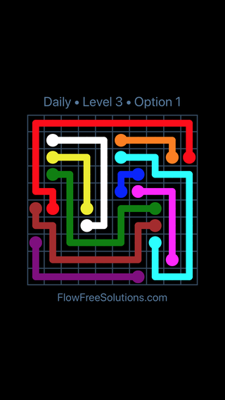 Solution and Answer to the Puzzle for Flow Date Sunday, September 8, 2019 Level 3