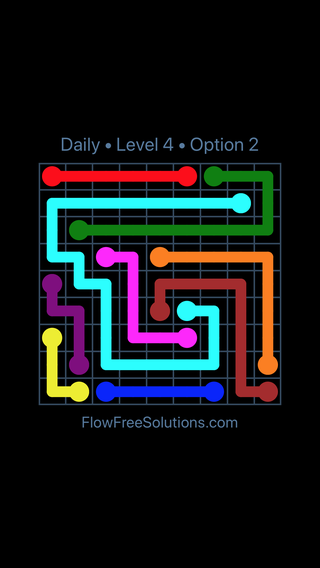 Solution and Answer to the Puzzle for Flow Date Sunday, October 7, 2018 Level 4