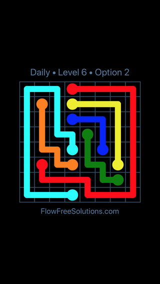 Solution and Answer to the Puzzle for Flow Date Monday, October 8, 2018 Level 6