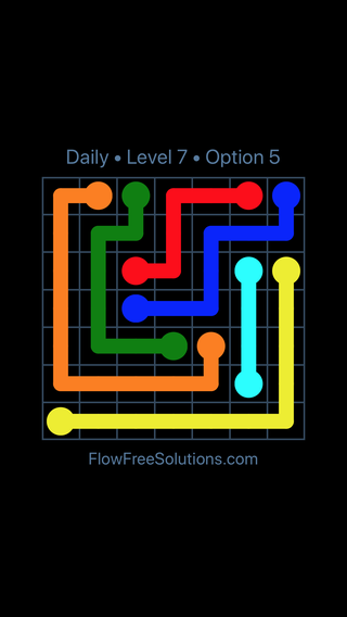 Solution and Answer to the Puzzle for Flow Date Monday, October 8, 2018 Level 7