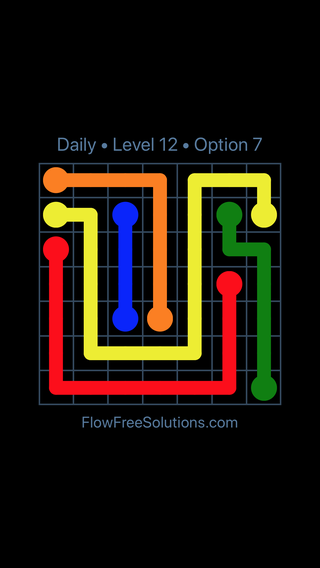 Solution and Answer to the Puzzle for Flow Date Wednesday, September 11, 2019 Level 12