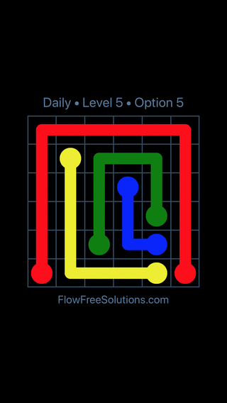 Solution and Answer to the Puzzle for Flow Date Wednesday, October 10, 2018 Level 5