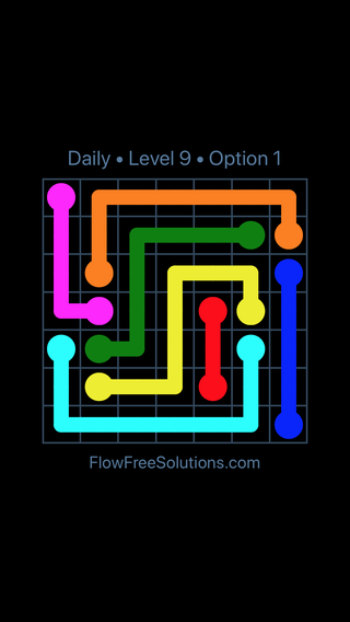 Solution and Answer to the Puzzle for Flow Date Wednesday, October 10, 2018 Level 9