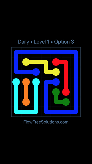 Solution and Answer to the Puzzle for Flow Date Thursday, June 20, 2019 Level 1