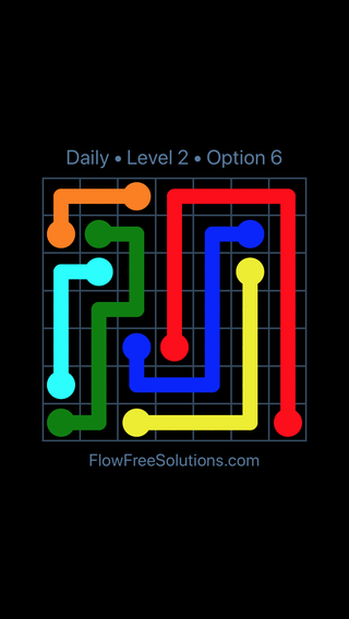 Solution and Answer to the Puzzle for Flow Date Thursday, October 11, 2018 Level 2