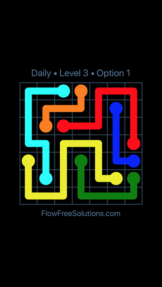 Solution and Answer to the Puzzle for Flow Date Thursday, November 9, 2017 Level 3