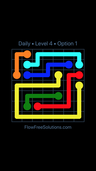 Solution and Answer to the Puzzle for Flow Date Thursday, November 9, 2017 Level 4