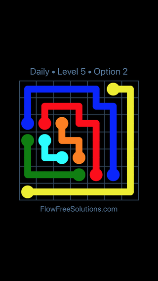 Solution and Answer to the Puzzle for Flow Date Thursday, November 9, 2017 Level 5
