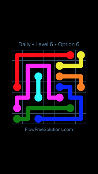 Solution and Answer to the Puzzle for Flow Date Thursday, September 12, 2019 Level 6