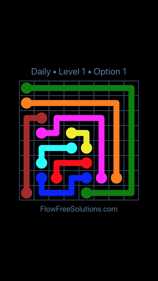 Solution and Answer to the Puzzle for Flow Date Friday, October 12, 2018 Level 1