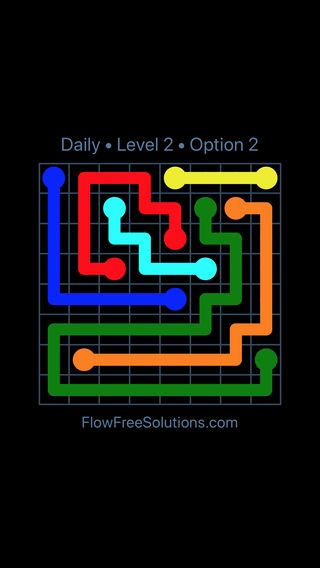 Solution and Answer to the Puzzle for Flow Date Friday, November 10, 2017 Level 2