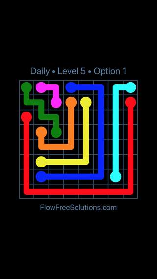 Solution and Answer to the Puzzle for Flow Date Friday, October 12, 2018 Level 5