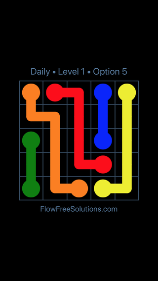 Solution and Answer to the Puzzle for Flow Date Saturday, November 11, 2017 Level 1